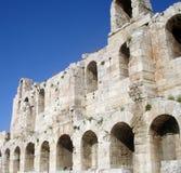Teatro dell'acropoli di Atene Immagine Stock