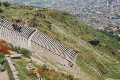 Teatro dell'acropoli di Pergamon Immagine Stock
