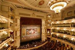 Teatro dell'opera di Dresda dell'interno Fotografia Stock Libera da Diritti
