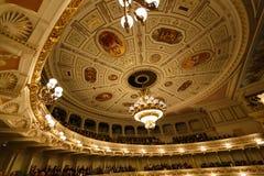 Teatro dell'opera di Dresda dell'interno Immagine Stock Libera da Diritti