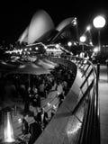 Teatro dell'opera di Sydney in bianco e nero Immagini Stock Libere da Diritti