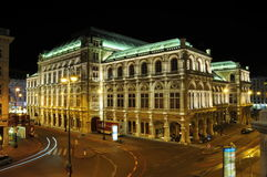 Teatro dell'Opera di Vienna Fotografie Stock Libere da Diritti