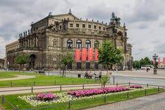 Teatro dell'opera Dresda Germania di Semperopera Fotografie Stock