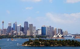 Teatro dell'opera e Sydney City Fotografia Stock