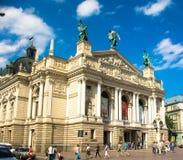 Teatro dell'opera Leopoli immagine stock
