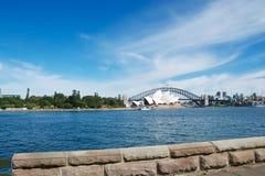 Teatro dell'opera Sydney e ponte del porto Immagine Stock Libera da Diritti