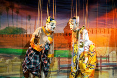 Teatro della marionetta di Mandalay Fotografia Stock Libera da Diritti