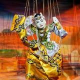 Teatro della marionetta di Mandalay Fotografia Stock