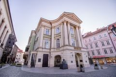 Teatro delle proprietà a Praga, repubblica Ceca fotografia stock libera da diritti