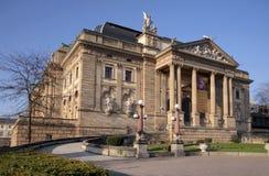 Teatro dello stato della tela di iuta a Wiesbaden Fotografia Stock Libera da Diritti