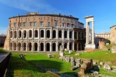 Teatro di马尔塞洛。马塞勒斯剧院。罗马。意大利 免版税库存图片