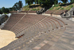 Teatro di Augusta Raurica Roman Immagine Stock