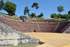 Teatro di Augusta Raurica Roman immagini stock libere da diritti