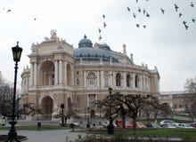 Teatro di balletto e di opera a Odessa fotografia stock