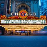 Teatro di Chicago Fotografie Stock