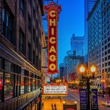 Teatro di Chicago Fotografie Stock