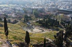 Teatro di Dionysus, Atene, Grecia Fotografia Stock