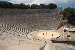 Teatro di Epidauros Immagini Stock Libere da Diritti