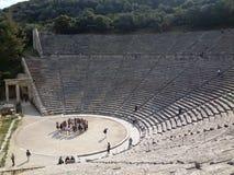 Teatro di Epidaurus Immagine Stock