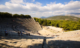 Teatro di Epidavros, Grecia Fotografie Stock