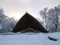 Teatro di estate nella neve fotografia stock libera da diritti