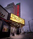 Teatro di film storico di Garneau fuori dal viale di Whyte Fotografia Stock