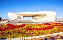 Teatro di grande di punto di riferimento-Shanxi della cultura di Tai-Yuan nuovo Immagini Stock Libere da Diritti