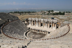 Teatro di Hierapolis in Turchia Fotografia Stock Libera da Diritti