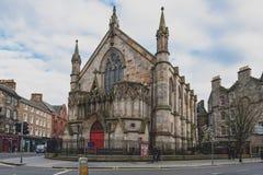 Teatro di manicomio alloggiato in una precedente chiesa neogotica a Edimburgo centrale, Regno Unito Immagini Stock Libere da Diritti