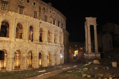 Teatro di Marcello at night, Rome Royalty Free Stock Images
