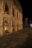 Teatro di Marcello at night, Rome Royalty Free Stock Image