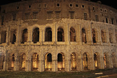 Teatro di Marcello at night, Rome Stock Images