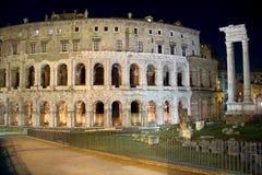 Teatro Di Marcello przy nocą 2 obrazy royalty free