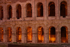 Teatro di Marcellus, Roma, Italia fotografia stock