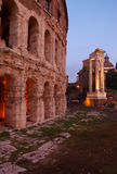 Teatro di Marcellus, Roma, Italia fotografia stock libera da diritti
