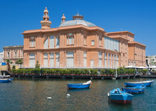 Teatro di Margherita. Bari. Apulia. fotografie stock libere da diritti