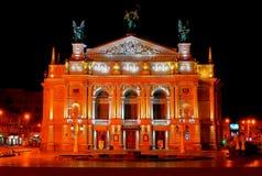 Teatro di opera di Leopoli Fotografia Stock