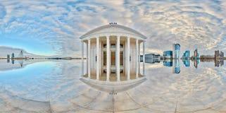 Teatro di opera Riflessione astratta Astana kazakhstan fotografia stock libera da diritti