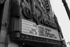 Teatro di Orpheum in bianco e nero Fotografia Stock Libera da Diritti