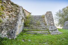 Teatro di Romani, dettagli, Autun, Francia Immagini Stock