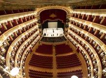Teatro Di SAN Carlo, Όπερα της Νάπολης Στοκ Εικόνες