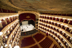 Teatro Di San Carlo, de operahuis van Napels Royalty-vrije Stock Fotografie