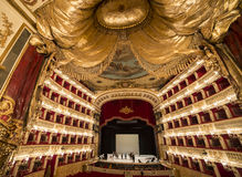 Teatro Di San Carlo, de operahuis van Napels Stock Afbeelding