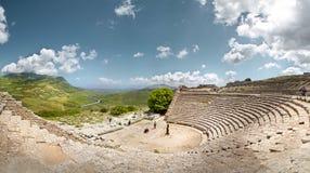 Teatro di Segesta, Sicilia, Italia Fotografie Stock Libere da Diritti