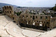 Teatro do Acropolis foto de stock