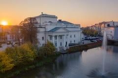 Teatro do awski do 'de Wojciech BogusÅ em Kalisz, Polônia fotografia de stock royalty free
