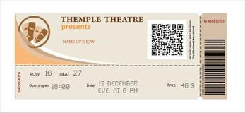 Teatro do bilhete Imagens de Stock Royalty Free