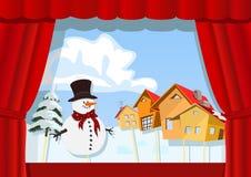 Teatro do fantoche do Natal ilustração stock