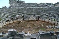 Teatro do gladiador de Xanthos foto de stock