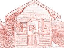 Teatro do jardim ilustração stock